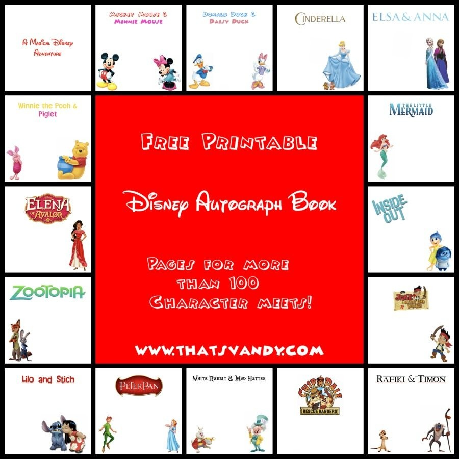 Disney Autograph Book Free Printable - That's Vandy - Free Printable Autograph Book For Kids