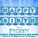 Disney Frozen Happy Birthday Banner | Birthday In 2019 | Frozen   Frozen Happy Birthday Banner Free Printable