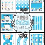 Disney's Frozen Party Printable Set ~ Free   Frozen Happy Birthday Banner Free Printable