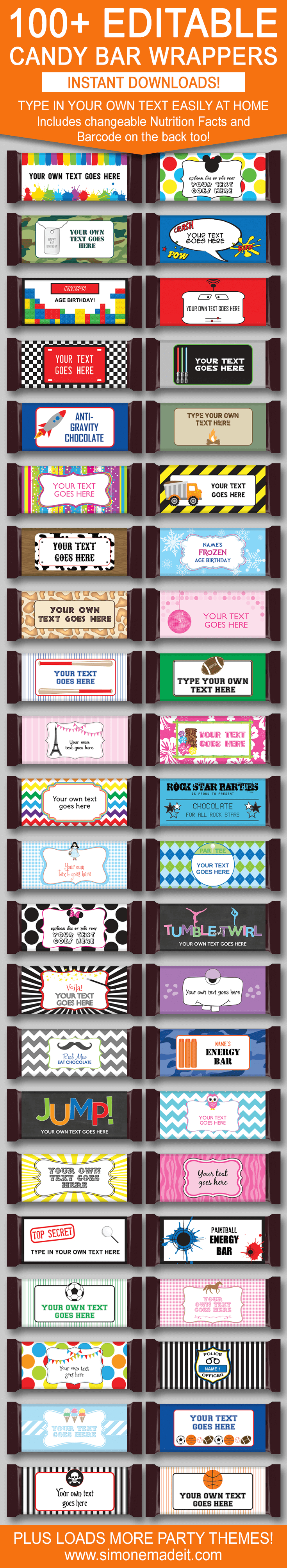 Diy Candy Bar Wrapper Templates | Party Favors | Chocolate Bar Labels - Free Printable Hershey Bar Wrappers