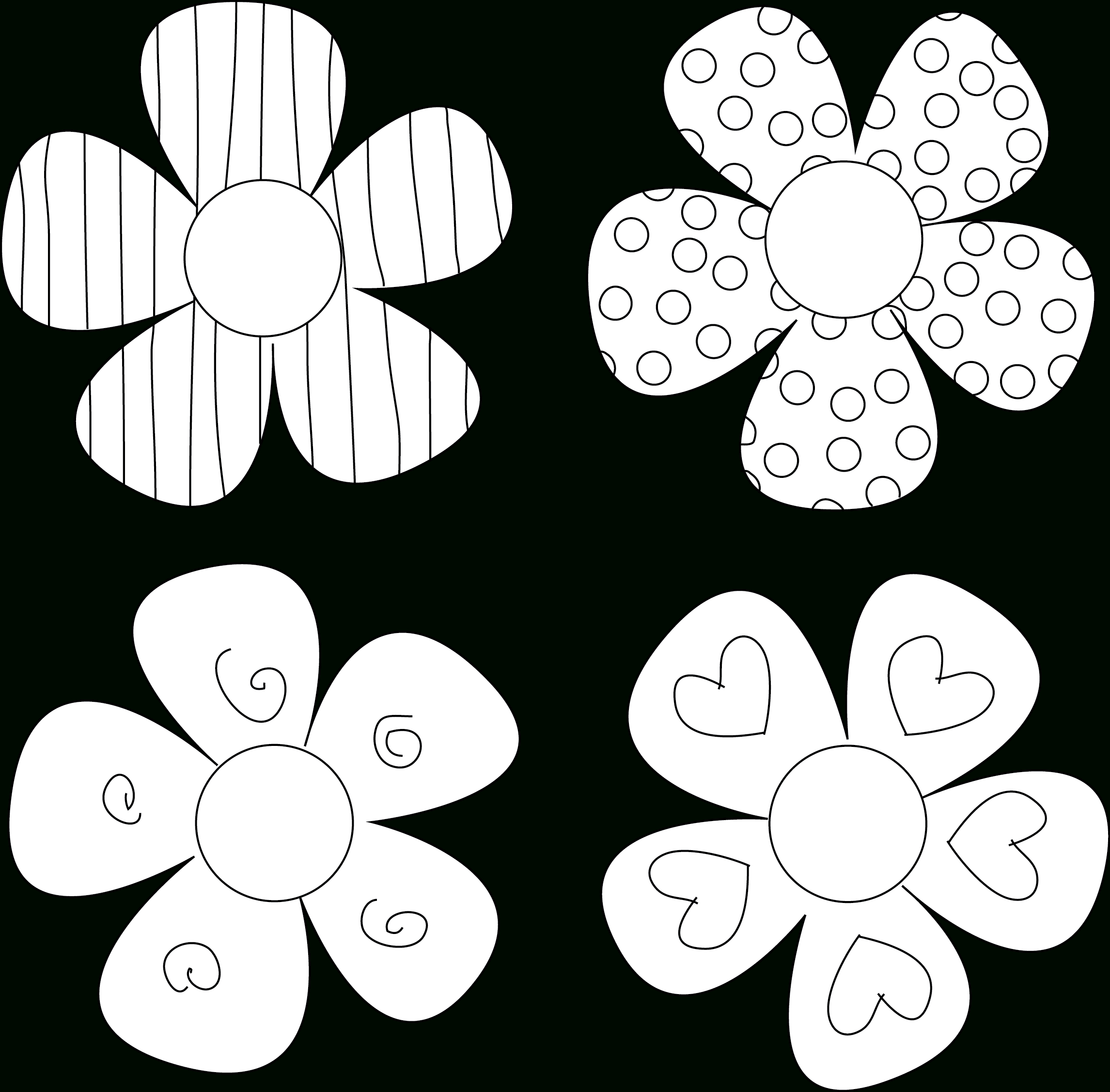 Diy Flower Tutorials You Must Try | 1 | Flower Template, Applique - Free Printable Flowers