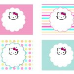 Diy Free Hello Kitty Label | Free Birthday Party Decorations | Hello   Hello Kitty Name Tags Printable Free