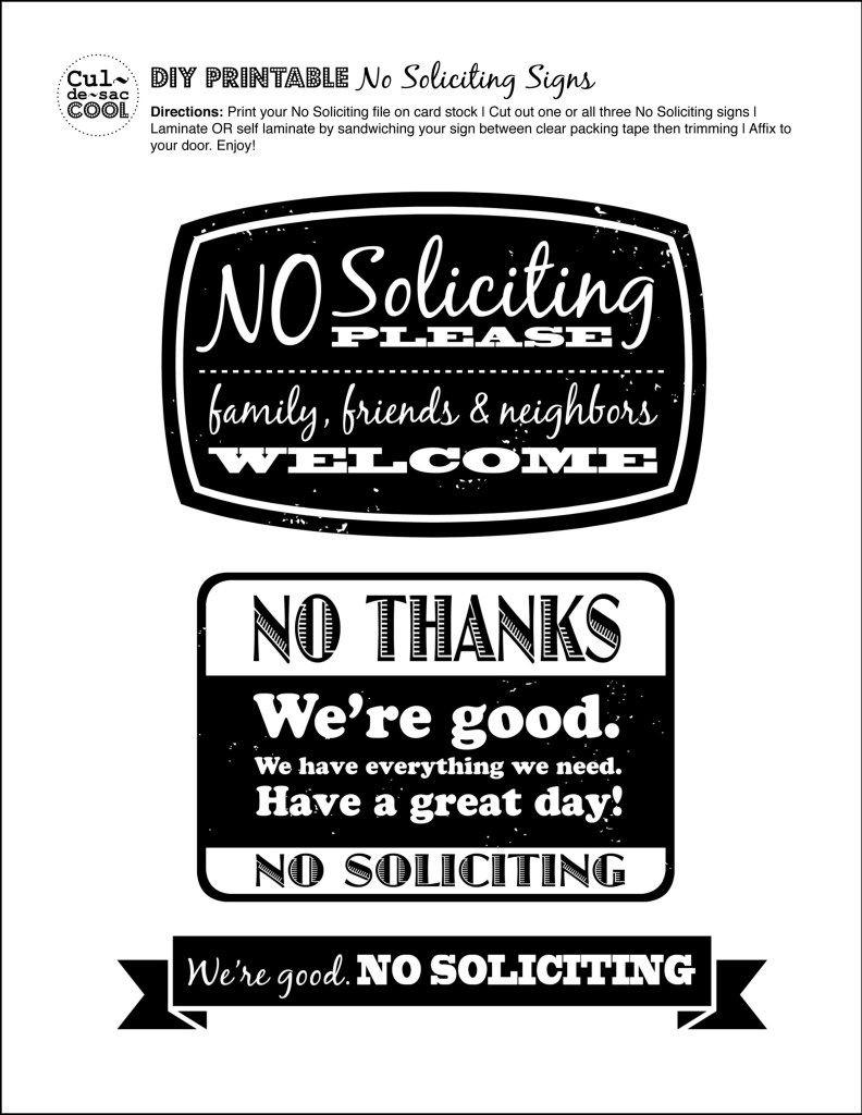 Diy Printable No Soliciting Signs … | No Soliciting Signs | No So… - Free Printable No Soliciting Sign