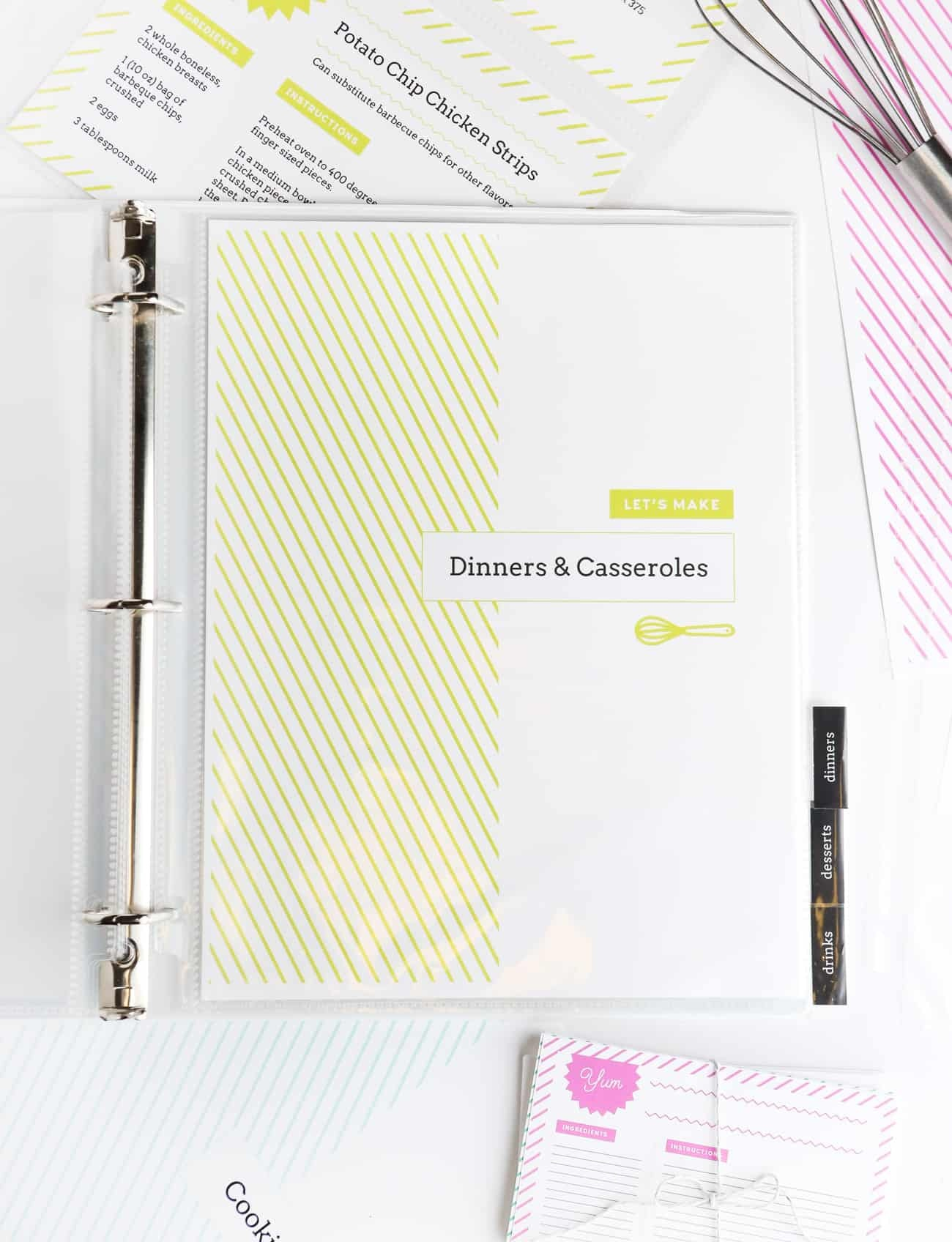 Diy Recipe Book (With Free Printable Recipe Binder Kit!) - Free Printable Recipe Dividers