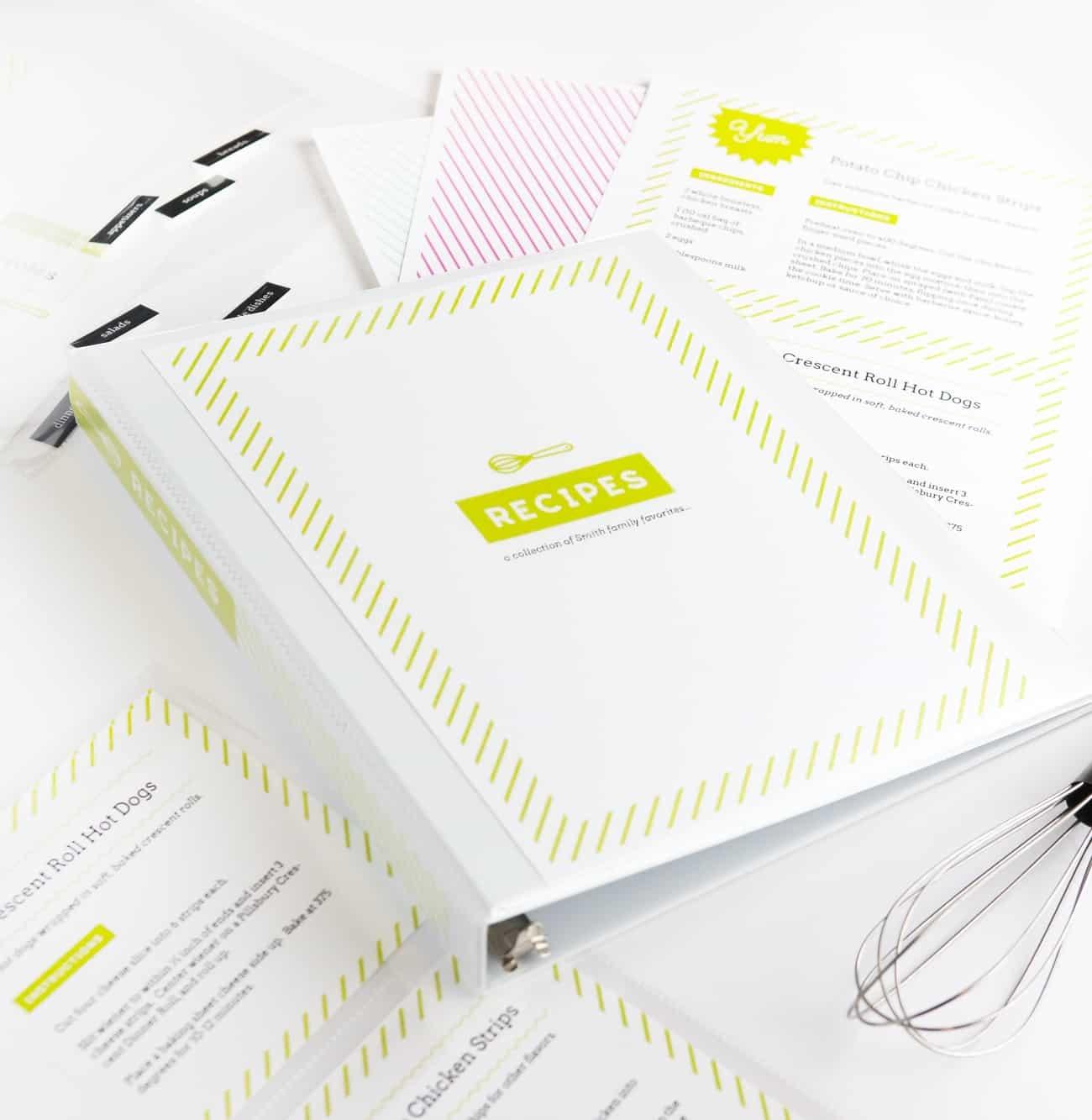 Diy Recipe Book (With Free Printable Recipe Binder Kit!) - Free Recipe Book Templates Printable