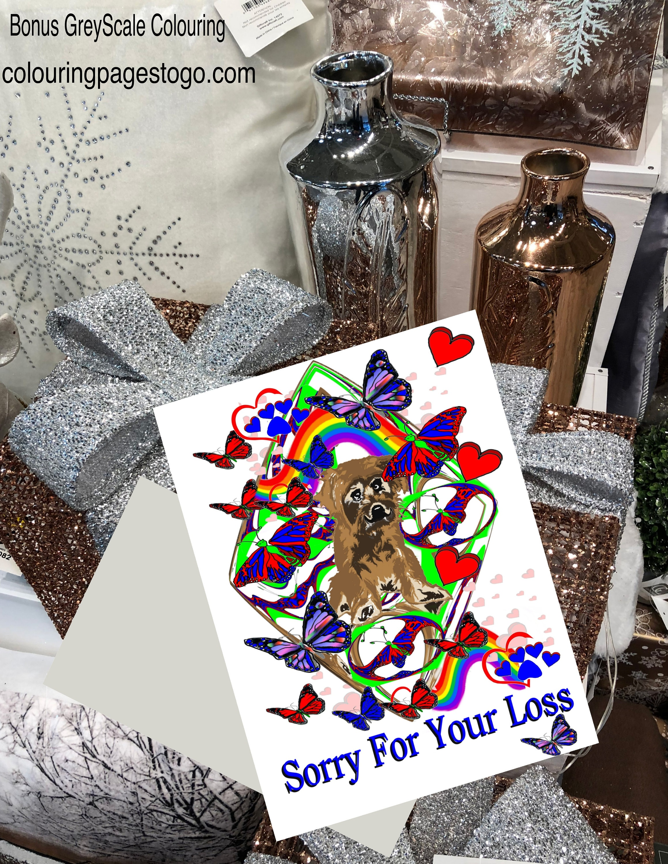 Dog Sympathy Card, Printable Dog Sympathy Card, Dog Condolence Card - Free Printable Sympathy Cards For Dogs