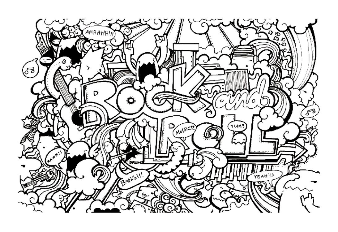 Doodle Art Free To Color For Kids - Doodle Art Kids Coloring Pages - Free Printable Doodle Art Coloring Pages