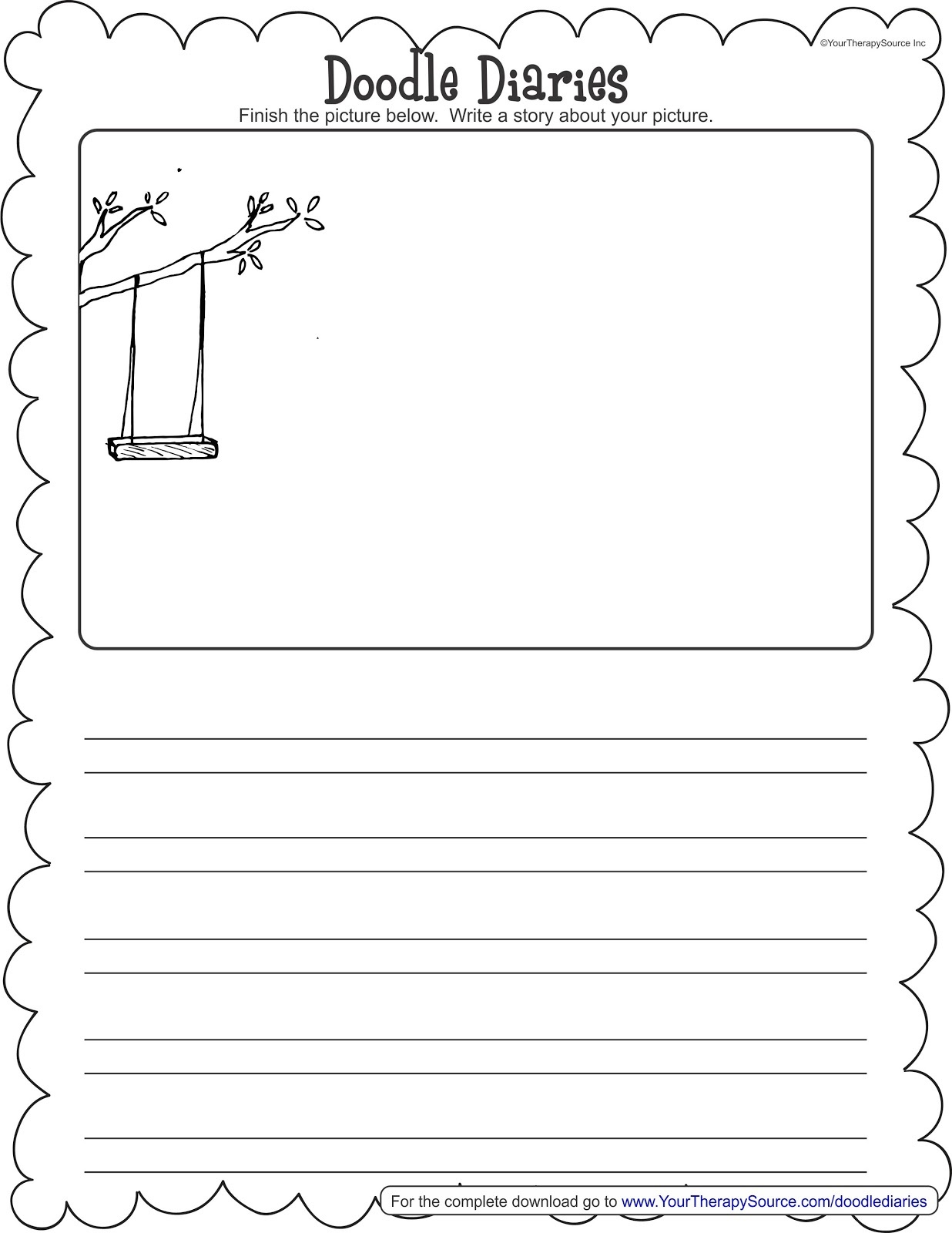 Doodle Diaries - Your Therapy Source - Free Squiggle Story Printable