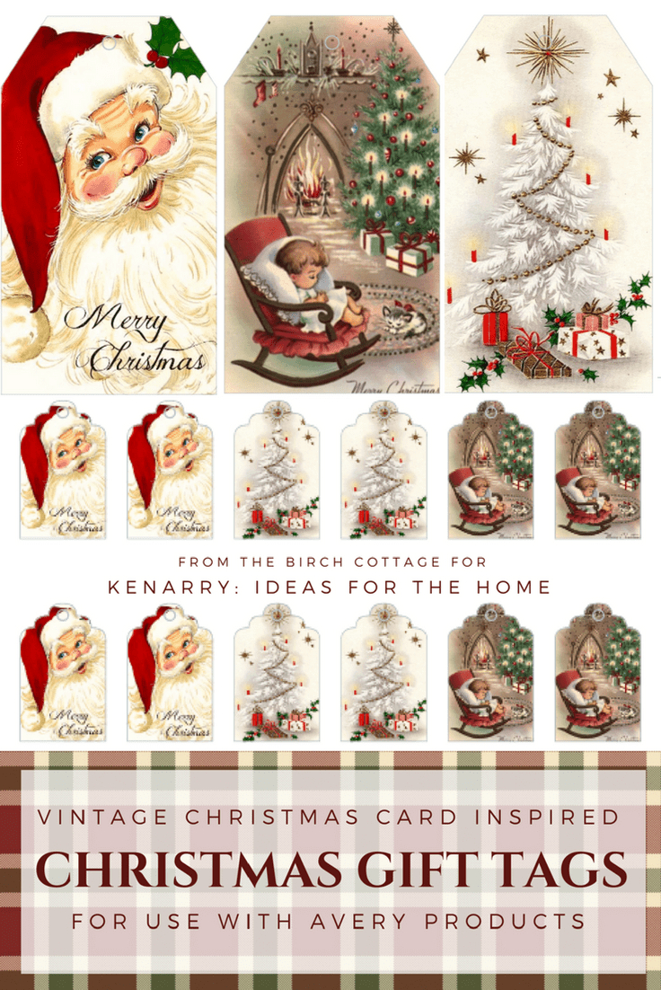 Download Free Printable Vintage Christmas Gift Tags For Holiday Wrapping - Free Printable Xmas Cards Download