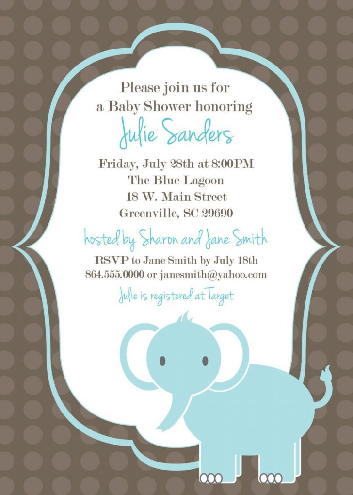 Free Printable Baby Shower Invitations Templates For Boys