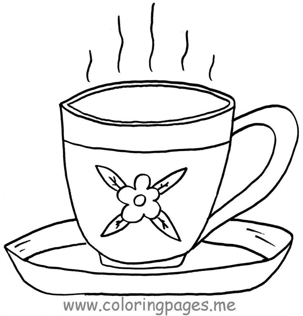 Download Or Print This Amazing Coloring Page: Free Coloring S Of - Free Printable Tea Cup Coloring Pages