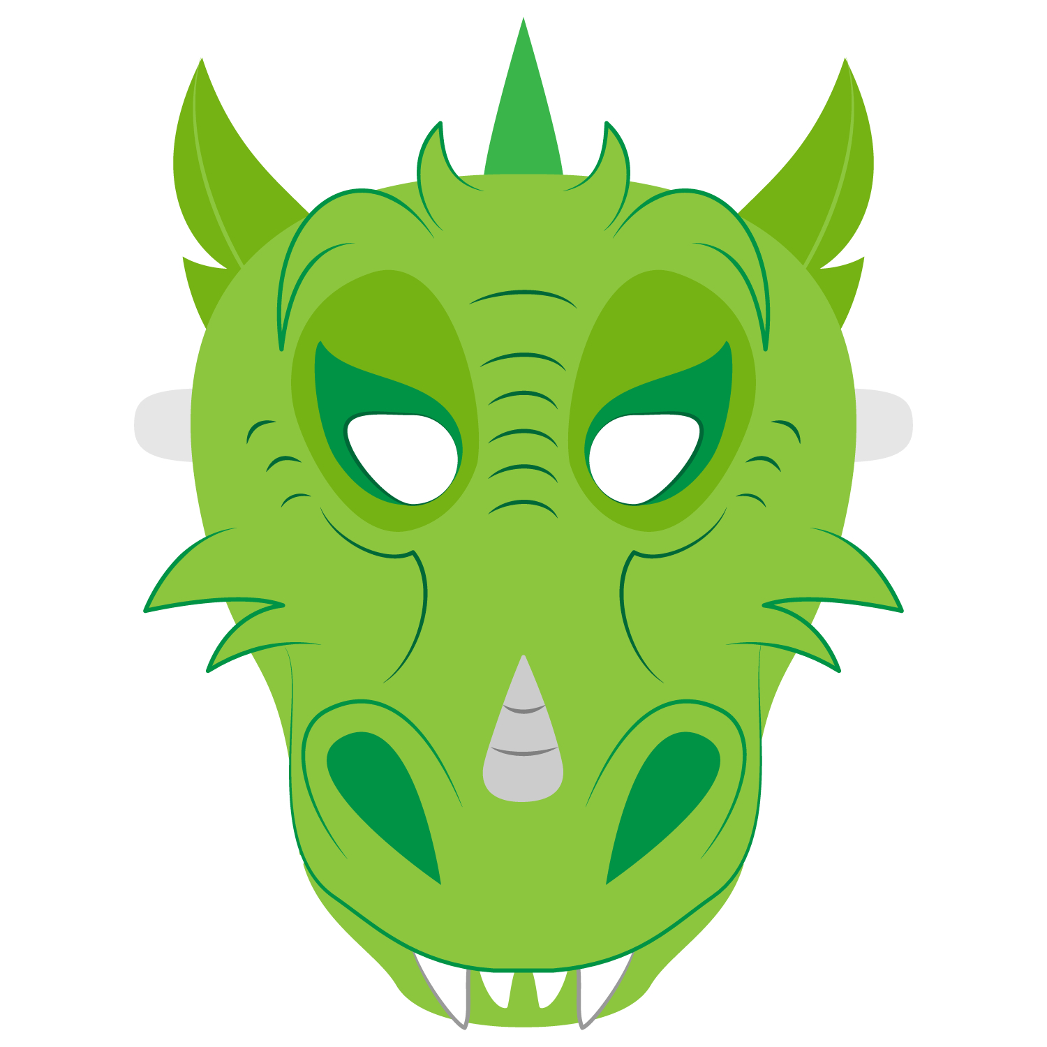Dragon Mask Template | Free Printable Papercraft Templates - Dragon Mask Printable Free