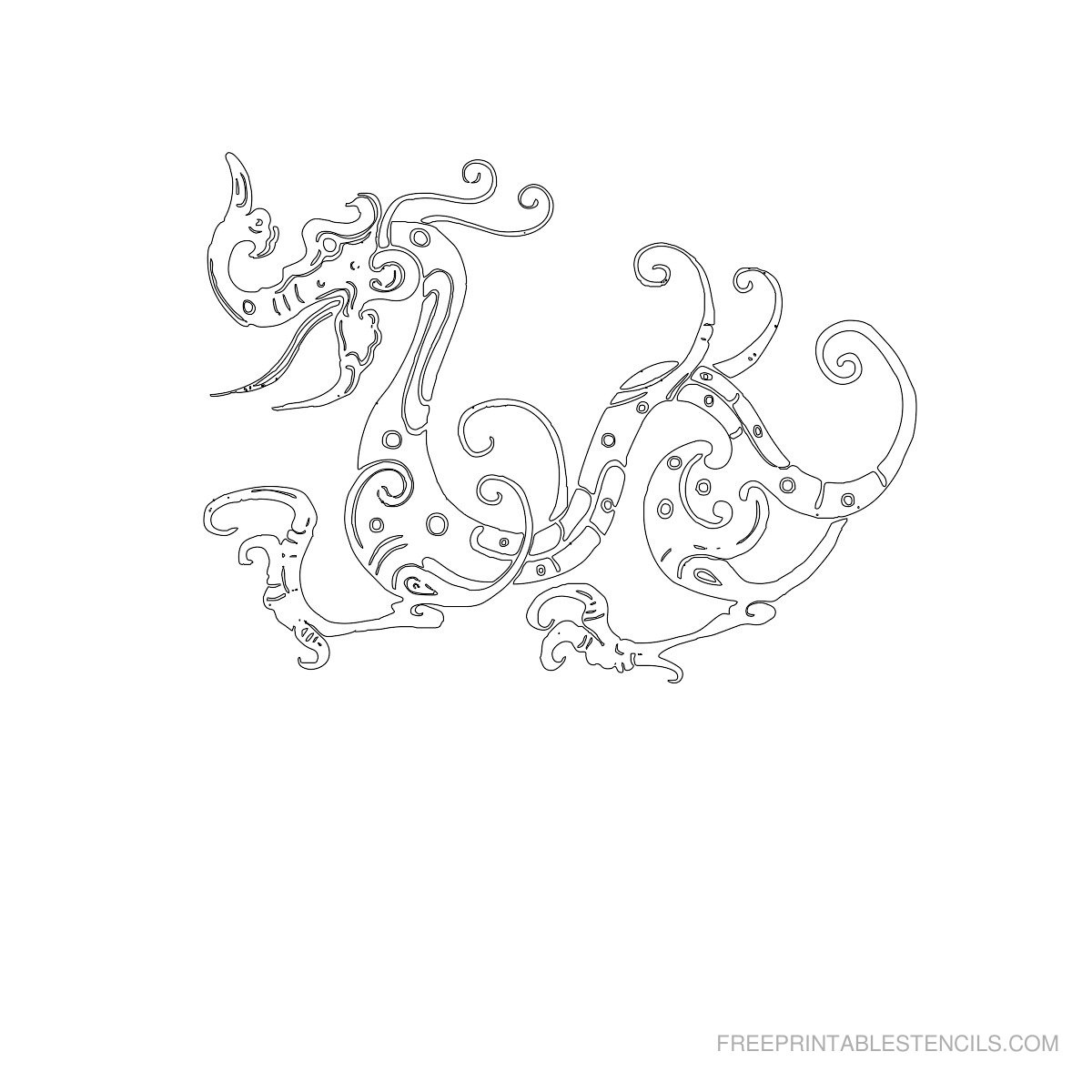 Dragon Stencils Printable Pictures   Free Printable Stencils - Free Printable Dragon Stencils