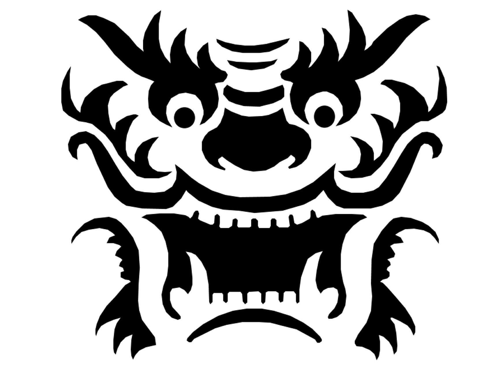 Dragon Template Printable   Dragon Pattern~Pumpkin-Crazy On - Free Printable Dragon Stencils