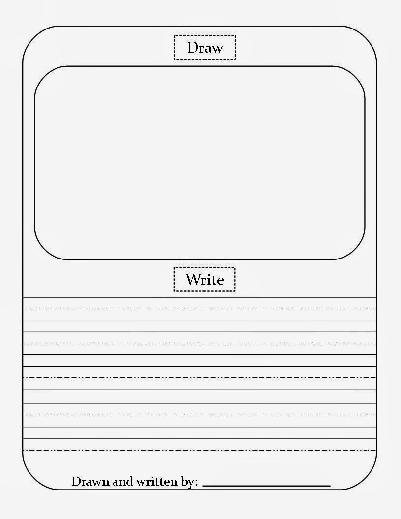 Draw/write Paper Free Download! | Printable | Kindergarten Writing - Free Squiggle Story Printable