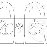 Easter Basket Printable Coloring Page | Easter Template   Free Printable Easter Egg Basket Templates