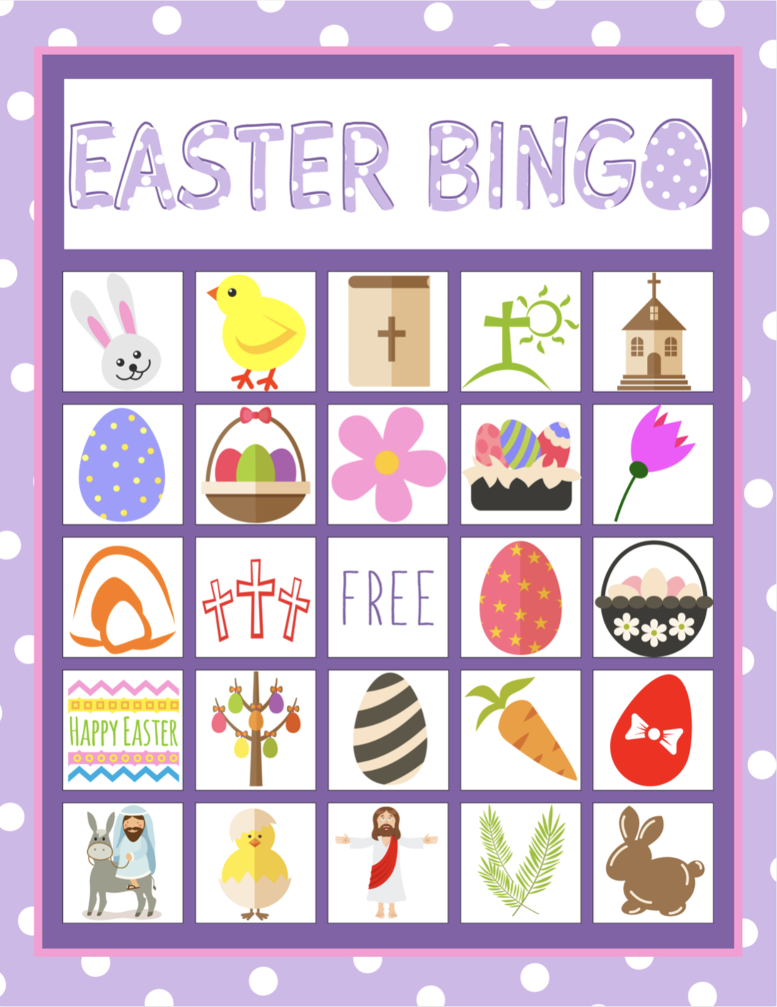 Easter Bingo Game For Kids   Children's Pastor Only   Easter Bingo - Free Printable Religious Easter Bingo Cards