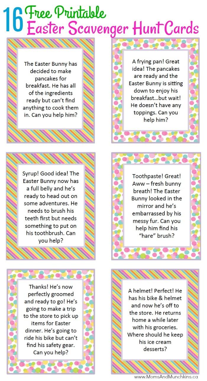 Easter Scavenger Hunt Ideas - Moms & Munchkins - Free Printable Treasure Hunt Games