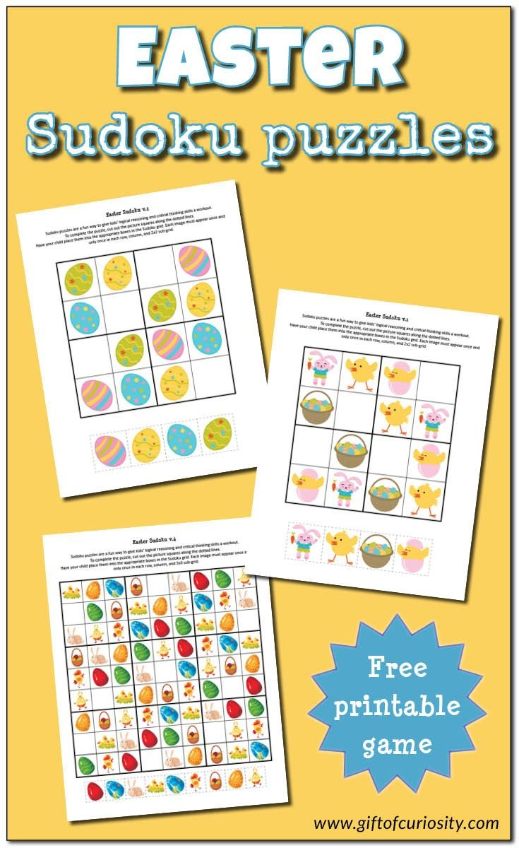 Easter Sudoku {Free Printables} | Easter Crafts | Easter Puzzles - Free Printable Critical Thinking Puzzles