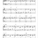 Easy Piano Solo Arrangementpeter Edvinsson Of The Christmas   Free Christmas Piano Sheet Music For Beginners Printable