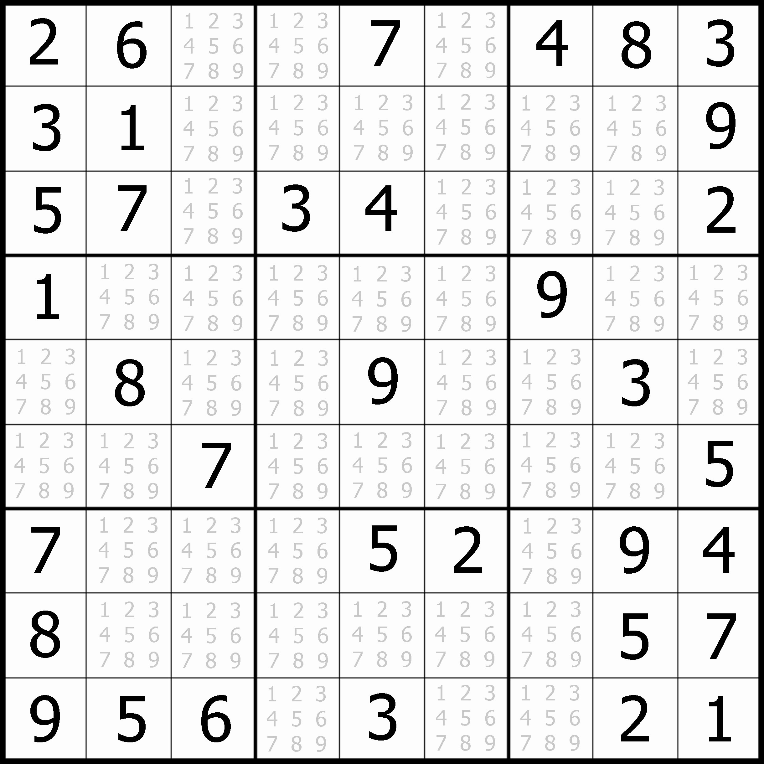 Easy Sudoku Puzzles To Print Free Download Featured Sudoku Puzzle To - Free Printable Sudoku