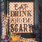 Eat Drink And Be Scary {Free Printable} | Halloween | Halloween   Free Printable Halloween Decorations Scary