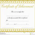 Elegant Certificate Of Achievement Template Free | Best Of Template   Free Printable Blank Certificates Of Achievement