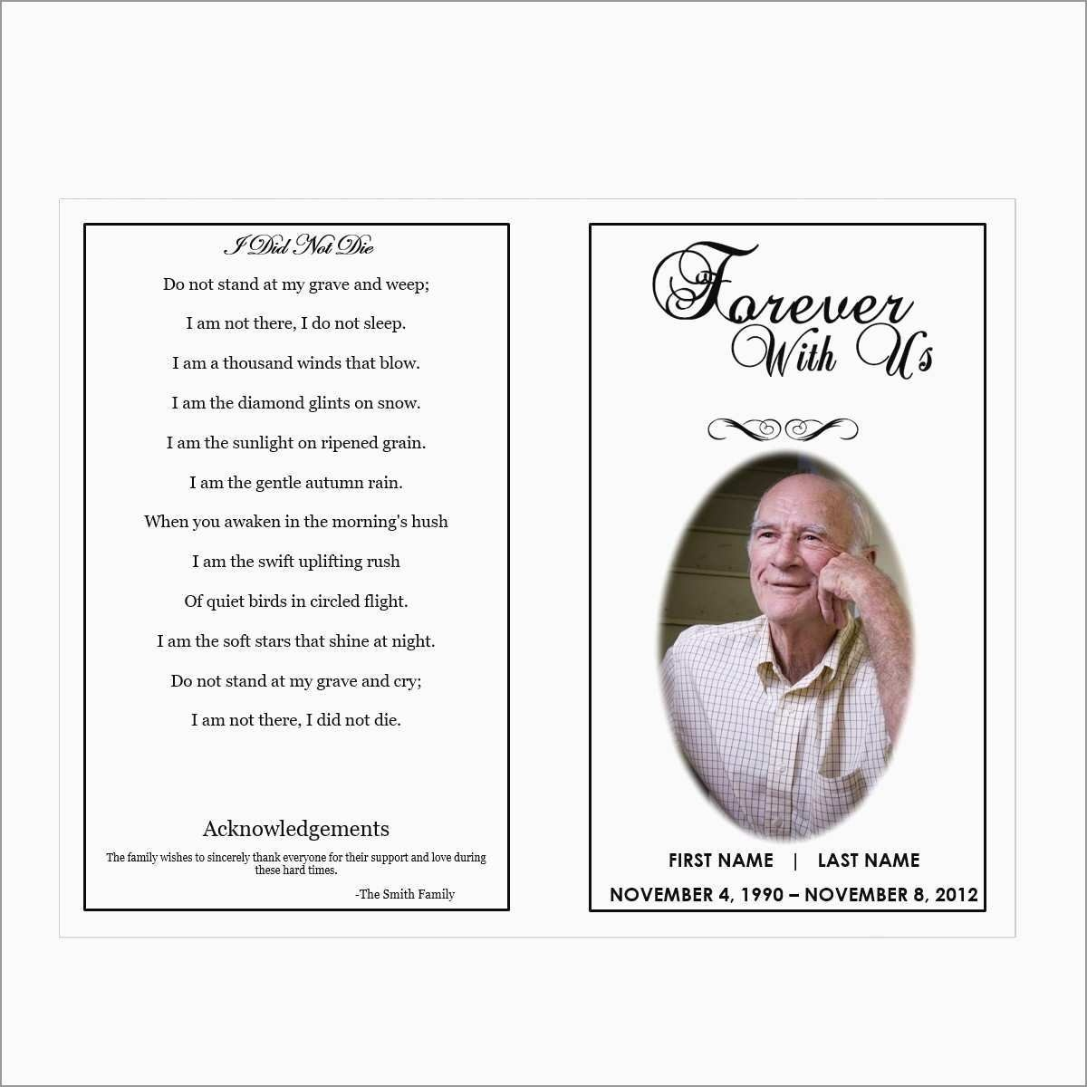 Elegant Funeral Program Template Publisher Free | Best Of Template - Free Printable Funeral Program Template