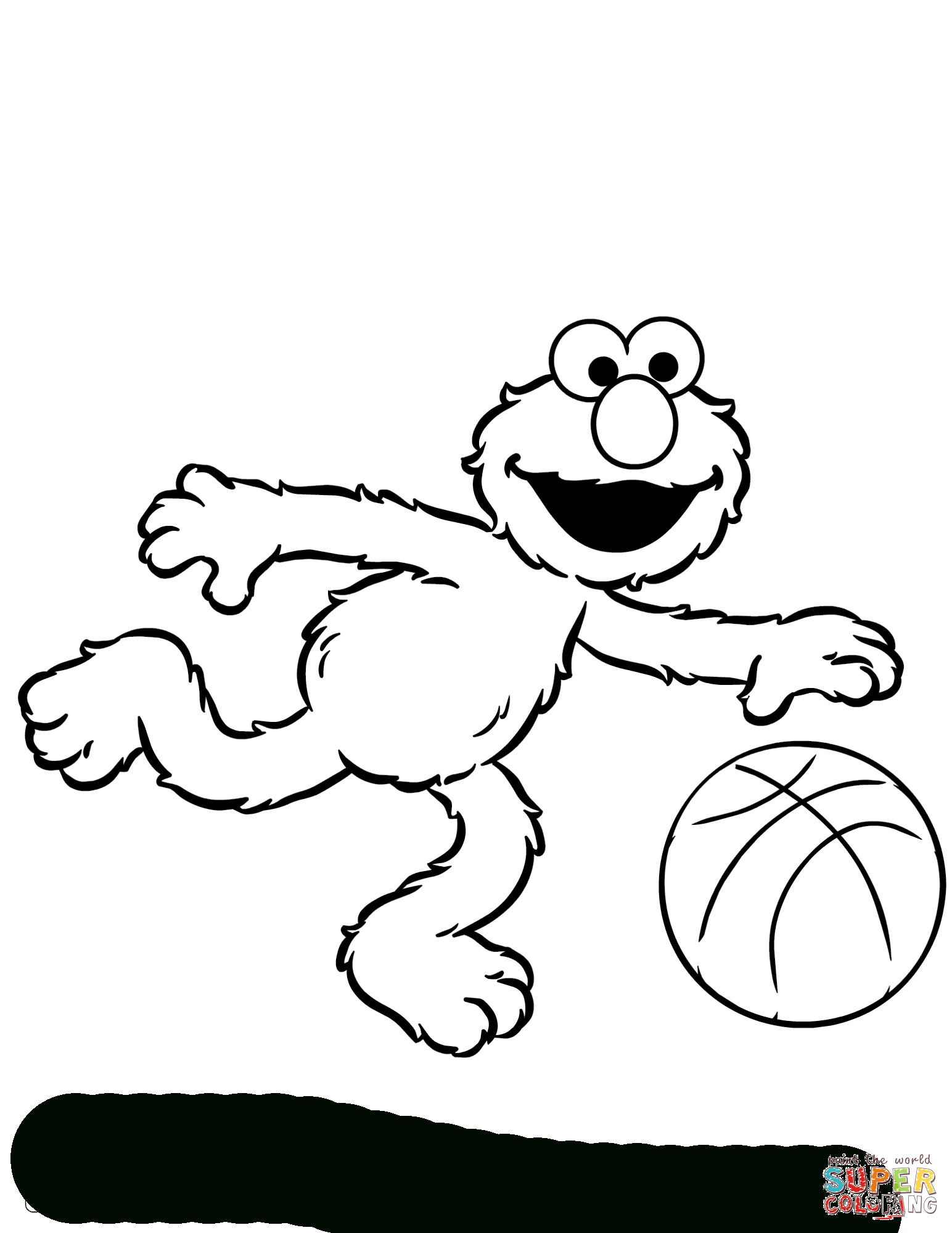 Elmo Coloring Page | Free Printable Coloring Pages - Elmo Color Pages Free Printable