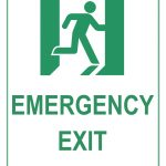 Emergency Exit Sign   Free Printable Exit Signs
