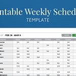 Employee Schedule Maker Template Free Printable Weekly Work For   Free Printable Work Schedule Maker