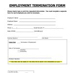 Employment Termination Form | Employee Forms | Employment Form   Free Printable Hr Forms