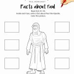 Facts About Paul Printable Bible Worksheet | Adventure Zone | Bible   Free Printable Sunday School Crafts