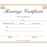 Fake Marriage Certificate | Angela | Marriage Certificate, Wedding   Fake Marriage Certificate Printable Free