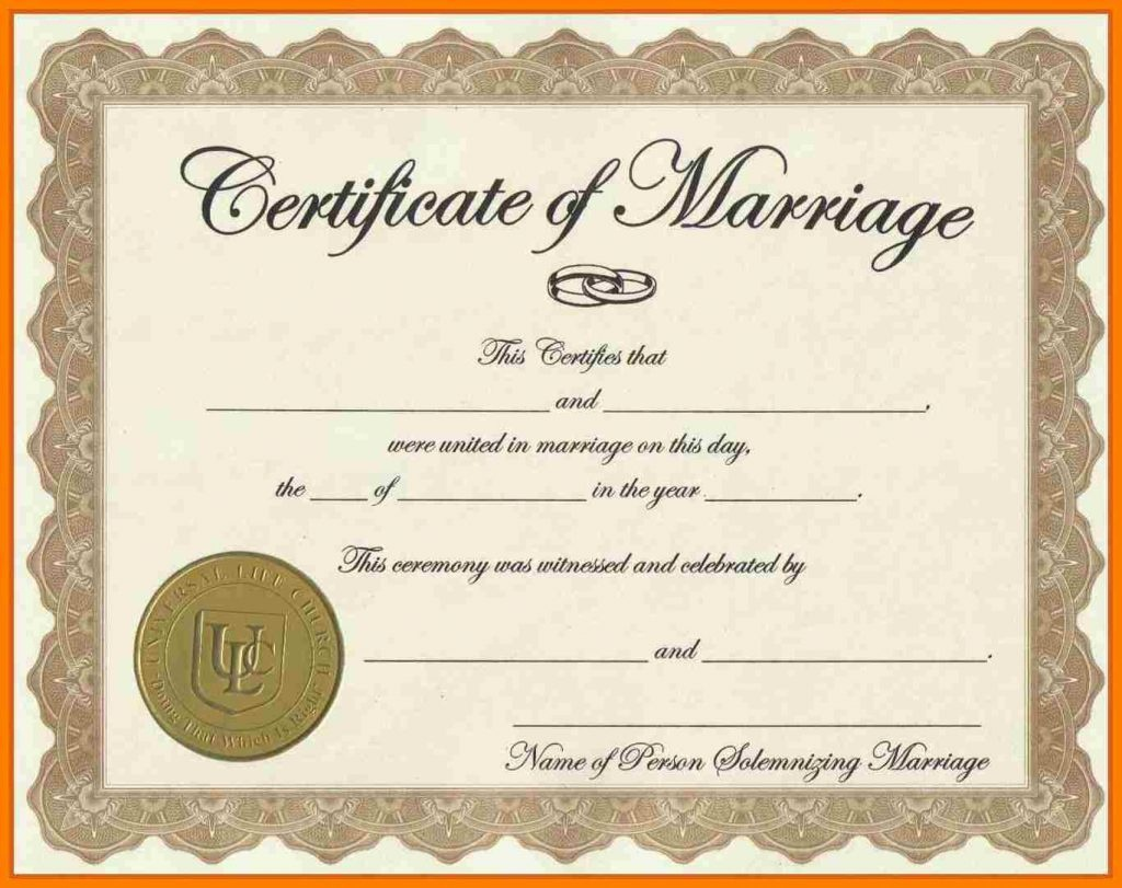 Fake Marriage Certificate Aws Certification Accounting - Fake Marriage Certificate Printable Free