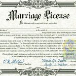 Fake Marriage Certificate | Marriage License | Marriage License   Fake Marriage Certificate Printable Free