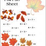 Fall Math Worksheet!   Free Printable Fall Math Worksheets
