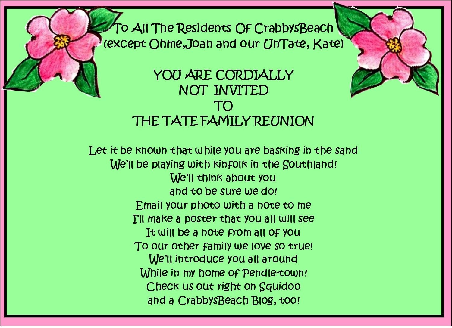 Family Reunion Favors | Family Reunion Party Invitations | Party - Free Printable Family Reunion Invitations