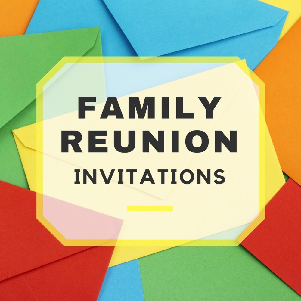 Family Reunion Invitations - Free Printable Family Reunion Invitations