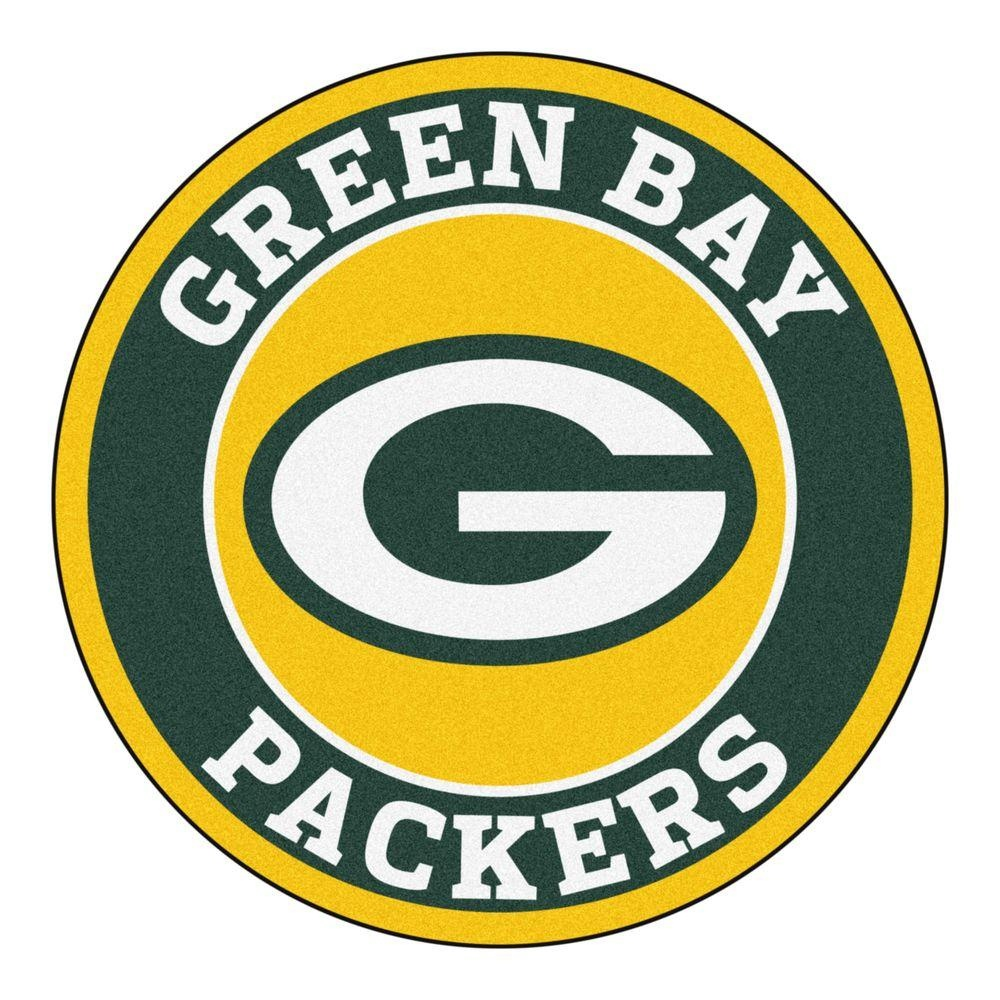 Fanmats Nfl Green Bay Packers Green 2 Ft. X 2 Ft. Round Area Rug - Free Printable Green Bay Packers Logo