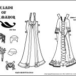 Fantasy Printable Paper Doll: Lady Of The Manor Part 2 • Paper Thin   Medieval Paper Dolls Free Printable
