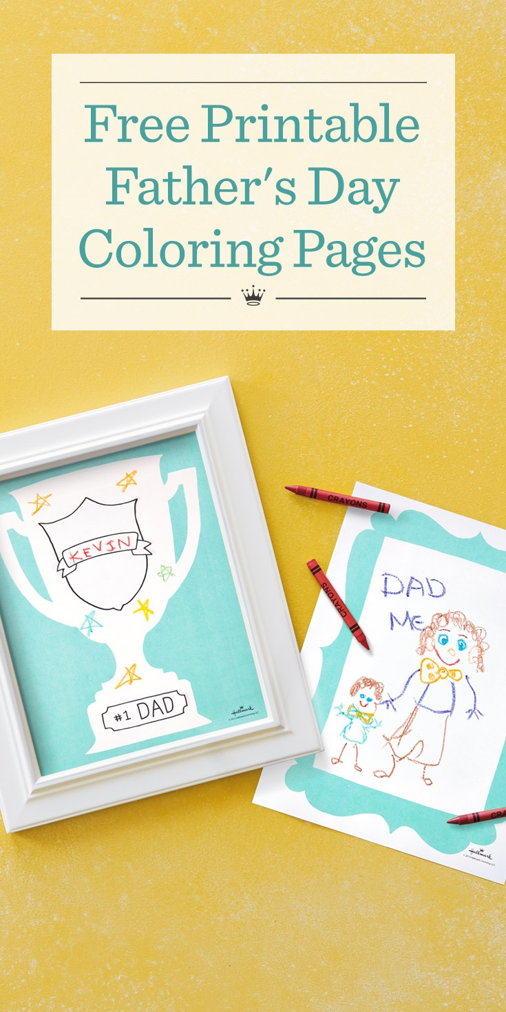 Father's Day Coloring Pages | Hallmark Ideas & Inspiration - Hallmark Free Printable Fathers Day Cards