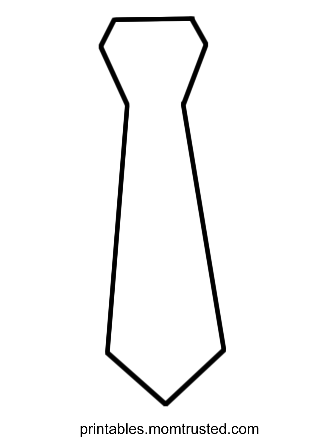 Fathers Day Tie Coloring Pages - Free Large Images | Teaching Ideas - Free Printable Tie Template