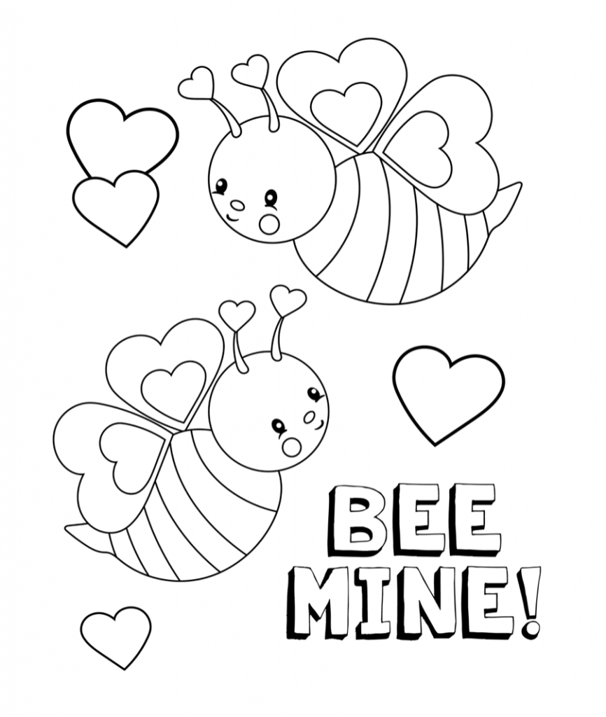 February Coloring Pages | Seasons Coloring Pages | Valentine - Free Printable Valentine Coloring Pages