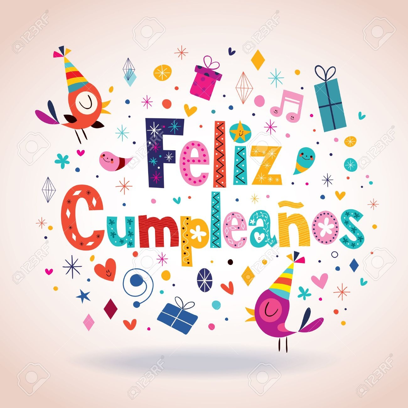 Feliz Cumpleanos - Happy Birthday In Spanish Card Royalty Free - Free Printable Happy Birthday Cards In Spanish