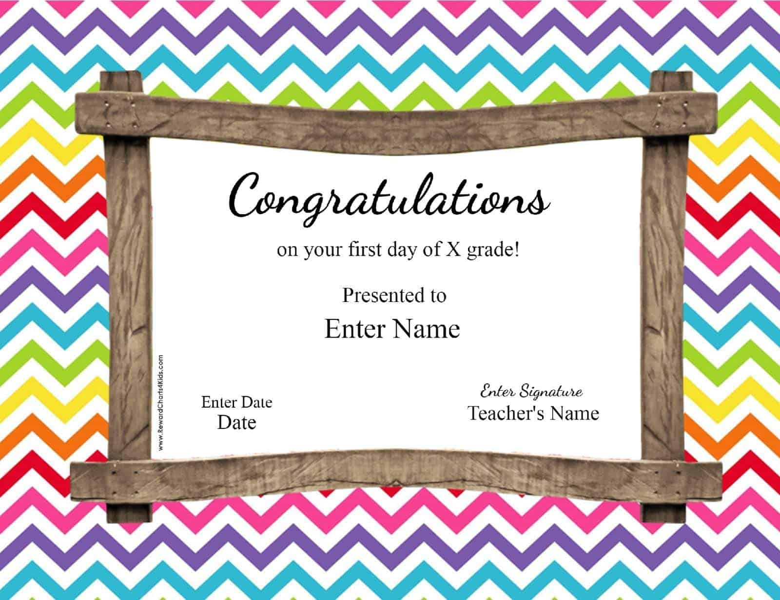 First Day Of School Certificate - Free Printable First Day Of School Certificate