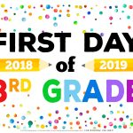 First Day Of School Signs   Free Printables   Happiness Is Homemade   Free Printable Welcome Back Signs For Work