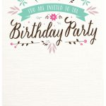Flat Floral   Free Printable Birthday Invitation Template   Free Printable Birthday Invitations Pinterest