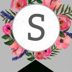 Floral Alphabet Banner Letters Free Printable | Banner | Banner   Free Printable Flower Letters