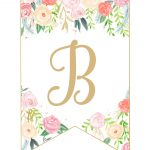 Floral Banner Printable Free Alphabet   Free Printable Flower Letters